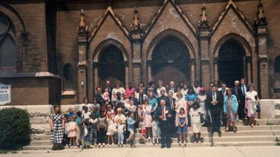 Souls Harbor Baptist Church building in 1988, exterior photo