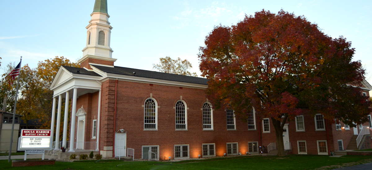 Outside photo shot of the Souls Harbor Baptist Church building