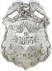 Milwaukee police silver badge with an eagle